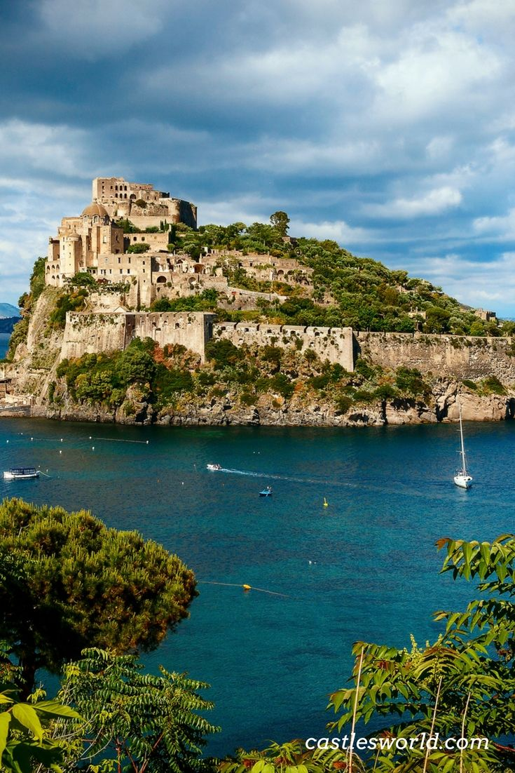 Aragonese Castle on the island of  Ischia, Naples Aragonese Castle stands on a volcanic rocky islet that connects to the larger island of Ischia by a causeway. It is the most impressive historical monument in Ischia, built by Hiero I of Syracuse in 474 BC.