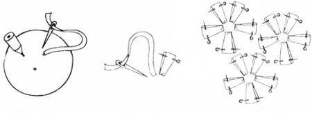 """Схема для вышивки лентами """"анютиных глазок"""""""