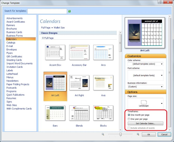personalize calendar for new year publisher office blogs update existing template the