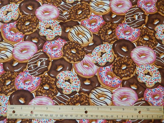 Donut Fabric 100 Cotton Fabric Fat Quarter Frosted
