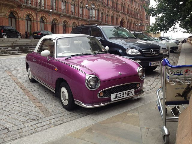 Nissan Figaro. I drive around all day for work. I would love to do it in this.