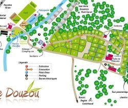 Camping met zwembad en rivier Dordogne/Perigord camping Le Douzou