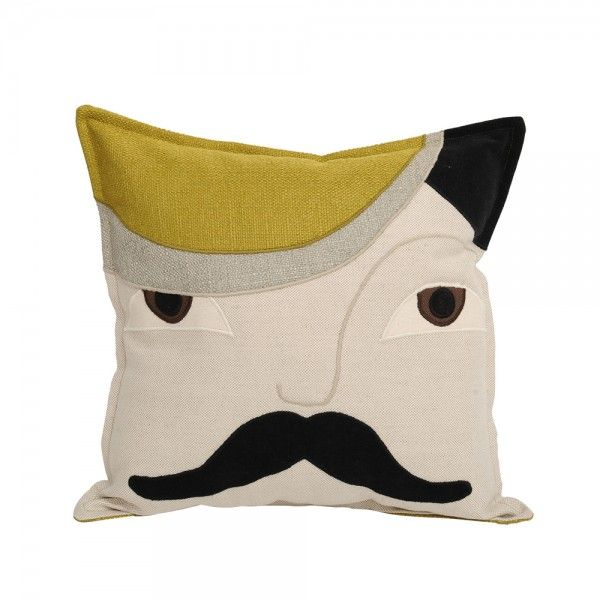 MR HIM OLIVE. Composition: textile collage: linen, velvet, cotton. Dimensions: width: 40 cm, height: 40 cm. Irina Neacsu Studio. Art. Design. Architecture. Mr. Him. Olive. Cotton. Cushion. Linen. Velvet. Brasov. Romania.