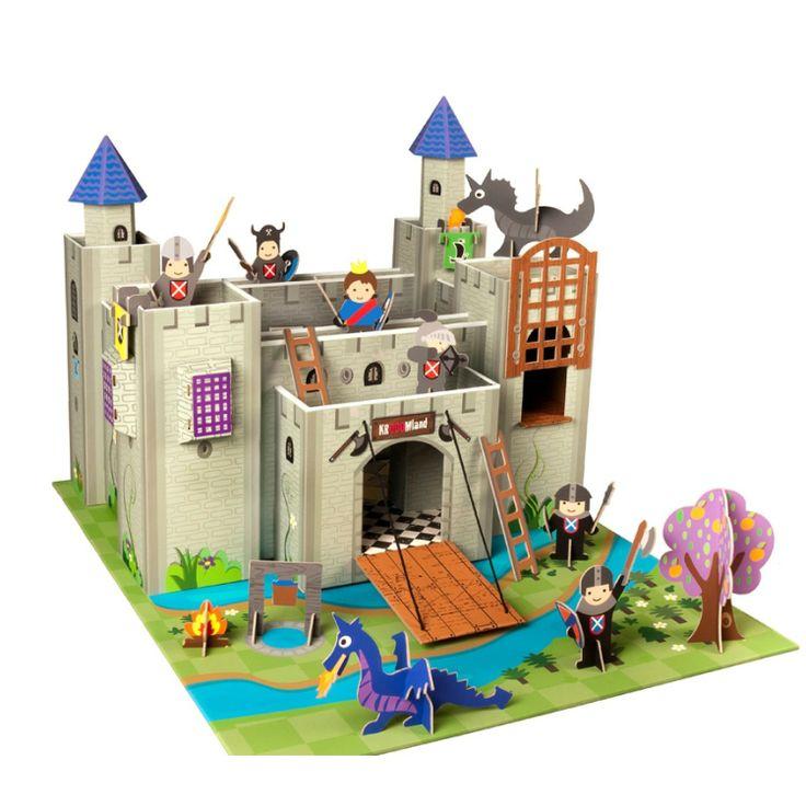 Castillo de #juguete hecho de #cartón http://www.elpaisdelosjuguetes.es/juguete-educativo-castillo-de-carton.html