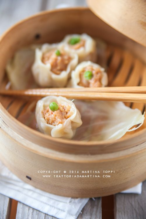 Cucina cinese: Shaomài (ravioli di gambero al vapore)
