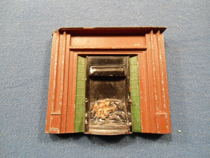 RARE CHARBENS METAL DOLLS HOUSE FIREPLACE | eBay