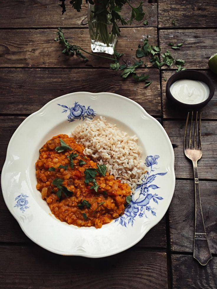 Łatwe, jednogarnkowe curry z soczewicą