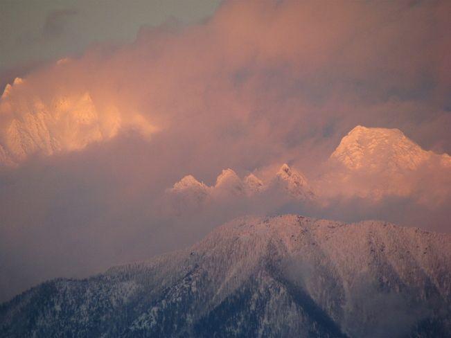 Pink peaks // by Stewart Wilson, Cranbrook, BC