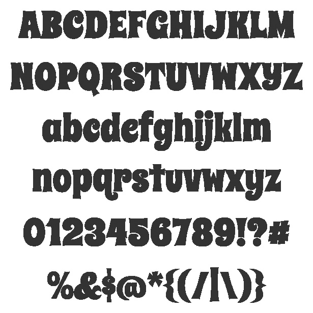 Spicy Rice Font - Nice and chunky font for the Silhouette to cut for layouts/project life