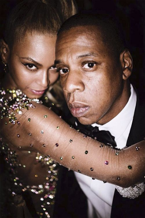beyoncefashionstyle:  Beyonce and Jay Z at Met gala by Mario Testino