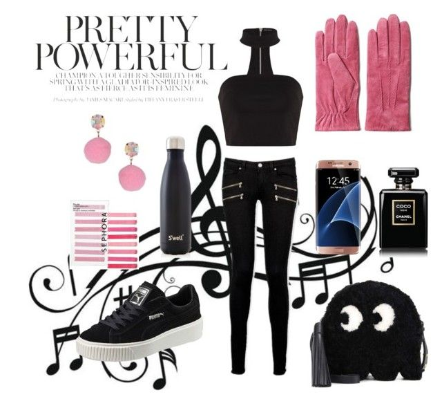 """Mai Mai Master"" by thestrawberrytales on Polyvore featuring Music Notes, GANT, Paige Denim, Puma, Anya Hindmarch, Samsung, S'well, Sephora Collection and Miss Selfridge"