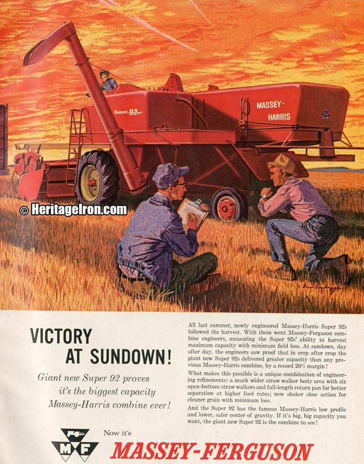 It's time for #VintageAdWednesday! Massey-Ferguson's Super 92 from Farm…