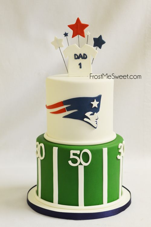 Patriots Football Grooms Cake Man cake by Frost Me Sweet