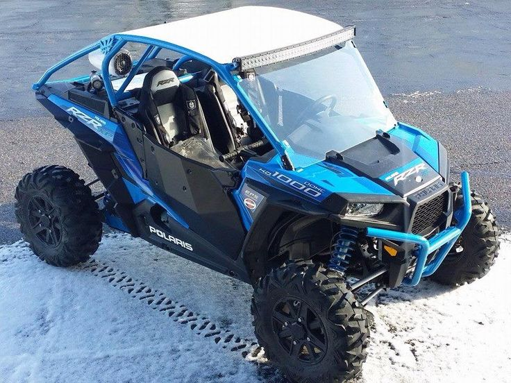 """We just finished putting together this RZR XP 1000 2-Seat. It got our Crawler Cage with roof, Windshield, 42"""" LED Light Bar, Side Mirrors, Lighted Whip, and special bracketry for the Rockford Fosgate rear speaker enclosures. Take a closer look at our new cage here, http://www.ventracing.com/polaris-rzr-xp-1000-1/xp1000-2-replacement-cage"""