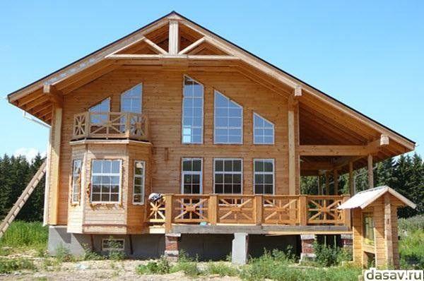 Красивые деревянные дома из бруса