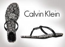 Kényelmes, Calvin Klein női papucs párnázott sarokrésszel, fekete színben, 3 különböző méretben
