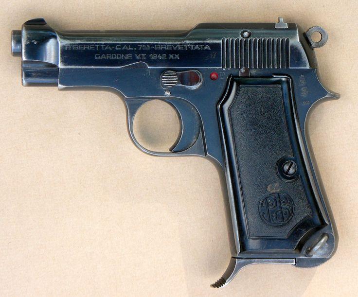 Beretta M 1935 .32 ACP (7.65) semi-automatic pistol .   Used in WW 2.