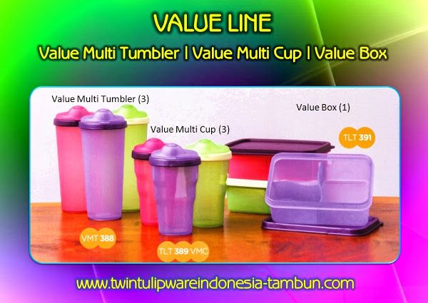 Value Multi Tumbler | Multi Cup | Box - Produk Baru #Tulipware 2014