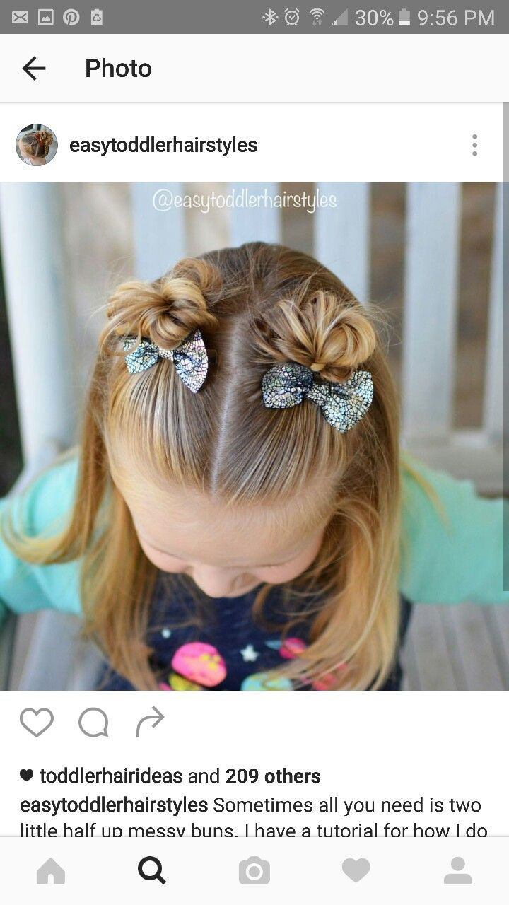 Two hair accessories is how I style young girls hair.
