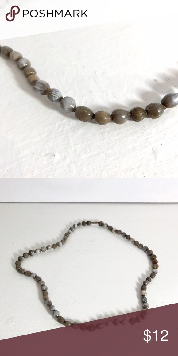 ✨New Stock✨ Grey Whitewash Pebble Necklace Grey Whitewash Pebble Neutral Necklace to go with every outfit. Jewelry Necklaces