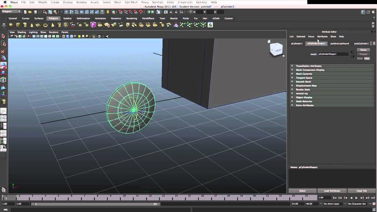 Tutorial: Maya #2 Modeling - polygons, tools, manipulators etc. PART 2/2
