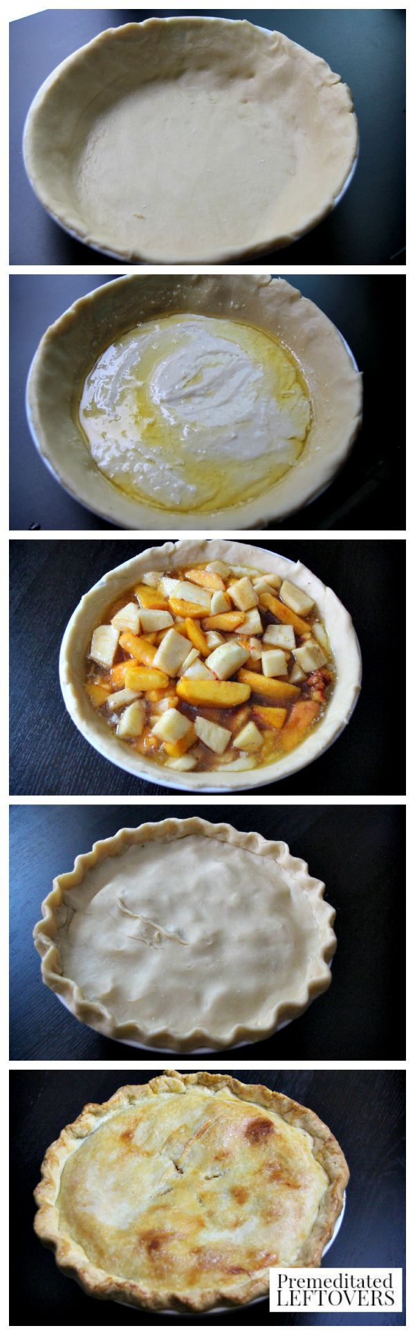 How to Make a Peach and Apple Cobbler Pie - Process
