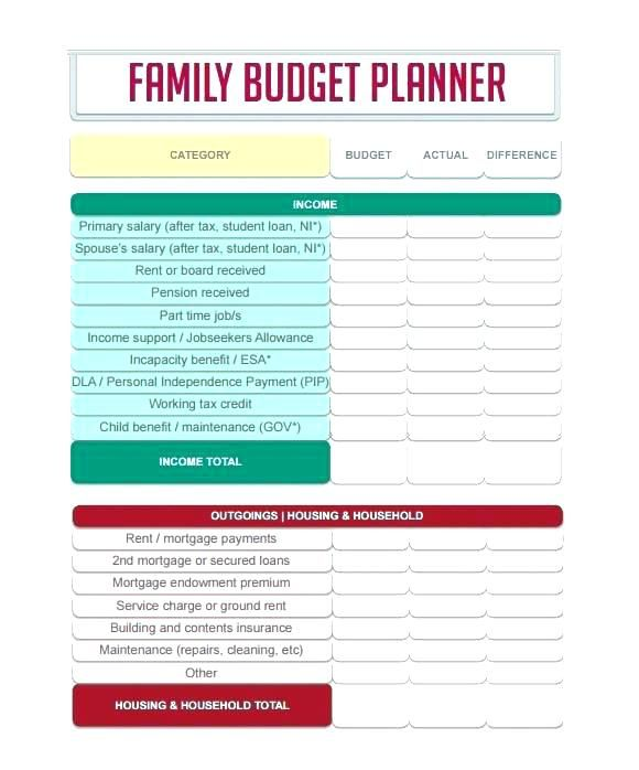 monthly budget planner worksheet template free download for excel