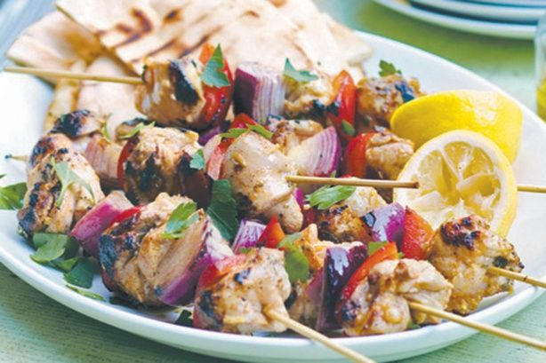 It's time to dust off the barbecue, enjoy the warmer weather and serve up this delicious chicken meal that is fast and easy to prepare. These Middle Eastern-inspired kebabs are perfect served with pita bread, lemon wedges and hummus.