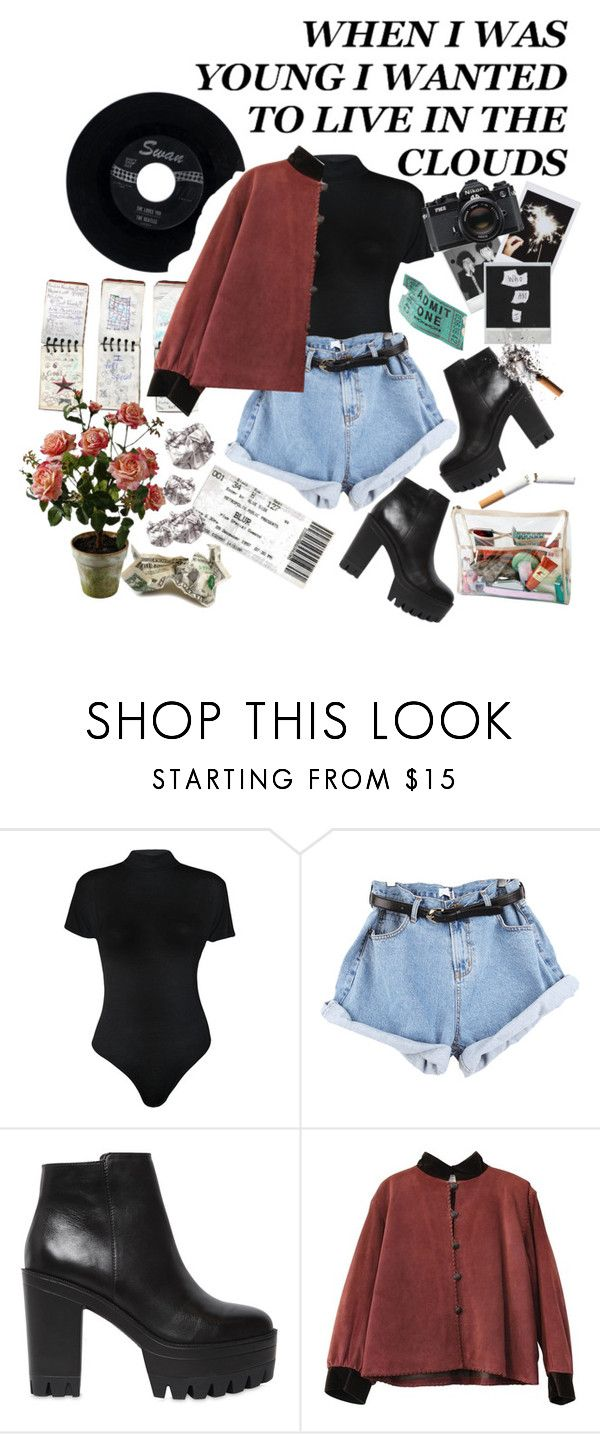 """""""Prozac Nation"""" by yuliabaylor ❤ liked on Polyvore featuring GUESS, WearAll, Windsor Smith, CO, Polaroid, Fujifilm, CHESTERFIELD, Nikon, Again and Yves Saint Laurent"""