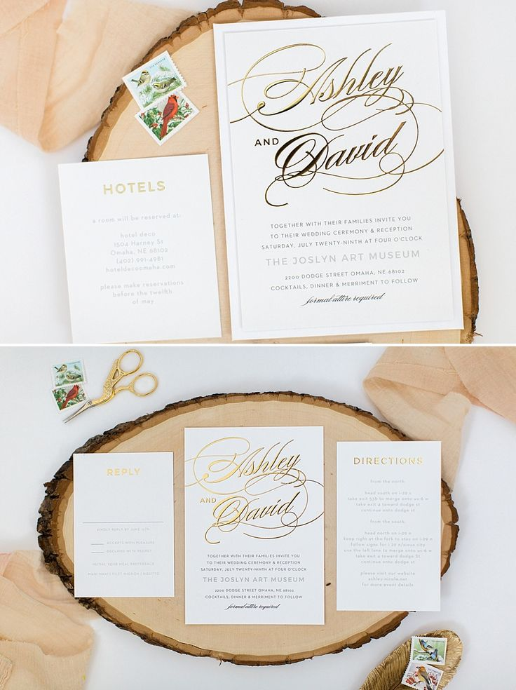 22 best Gold Foil Wedding Invitations images on Pinterest | Gold ...