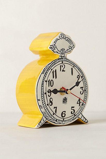fun yellow Tick-Tock Clock #anthrofave http://rstyle.me/n/s8dnzr9te