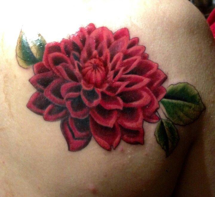 Trident Tattoo Company: Dahlia Tattoo / Scott Junkins At Trident Tattoo Company In