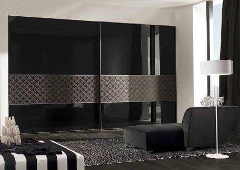 Bedroom Design Beautiful Decorating Ideas Modern Interior Designs With Glossy Black Wardrobe And Contemporary Sofa Cushion Rug White Standing Lamp