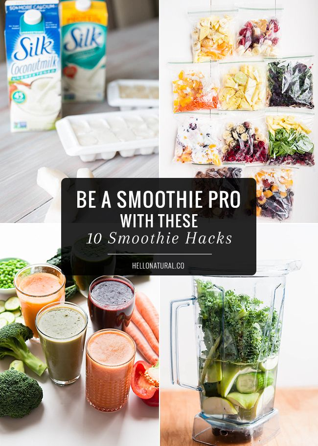 Be a Smoothie Pro with These 10 Smoothie Hacks | HelloNatural.co