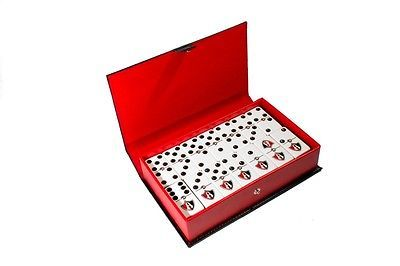 Club Atlas 100 Años Dominoes Game Set, Domino, Jumbo Size, Leather, LIMITED, New