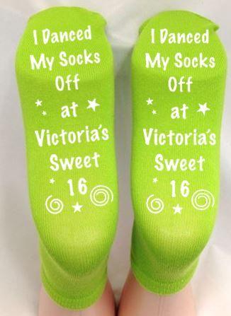 Birthday Grippy Socks Favors  $5.50