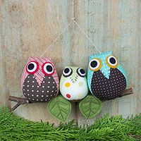 Cheerful Owl Family from @NOVICA, They help #artisans succeed worldwide.
