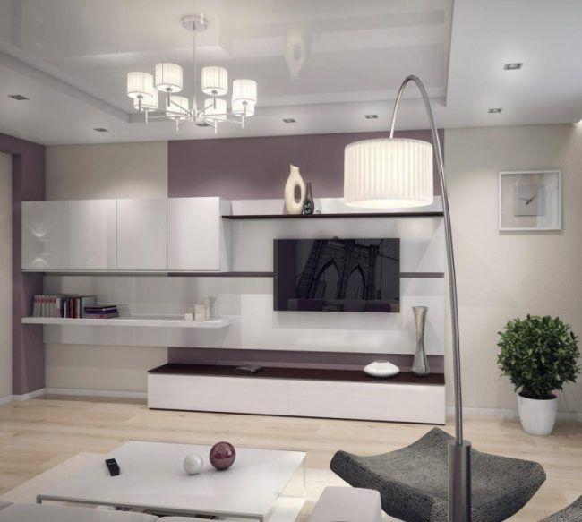 Die besten 25+ Wandmontierter Fernseher Ideen auf Pinterest - wohnzimmermöbel weiß hochglanz