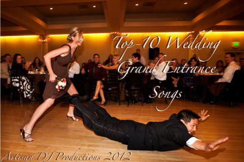 Top-10 Wedding Grand Entrance songs, complete with accompanying YouTube videos and Spotify playlist... Check it out!