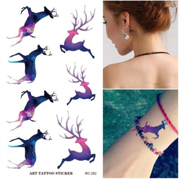 Find More Temporary Tattoos Information about New waterproof Temporary tattoo men women running rabbit deer pattern couple Lover Paper stickers Body Art Painting make up,High Quality temporary tattoos men,China rabbit deer Suppliers, Cheap waterproof temporary tattoos from JUNVOOLER Store on Aliexpress.com