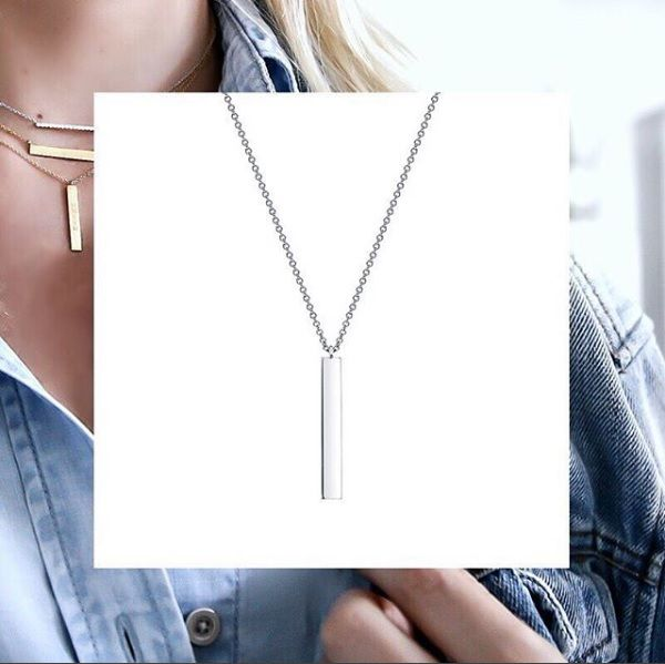 """Sleek and chic the """"Les Plaisirs de Birks"""" bar necklace is a perfect gift. Personalize it with an engravement for an added touch of the heart."""