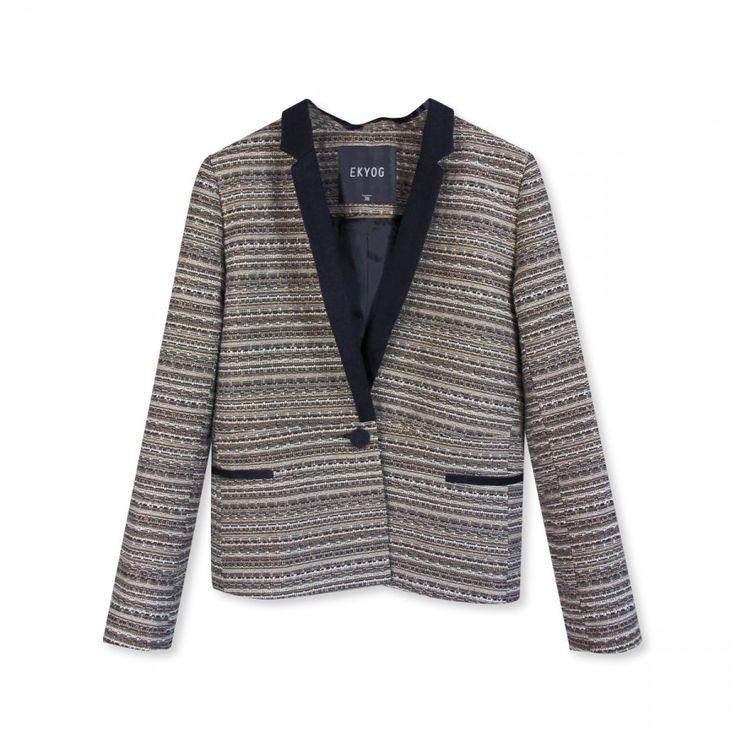 Veste en tweed lurex