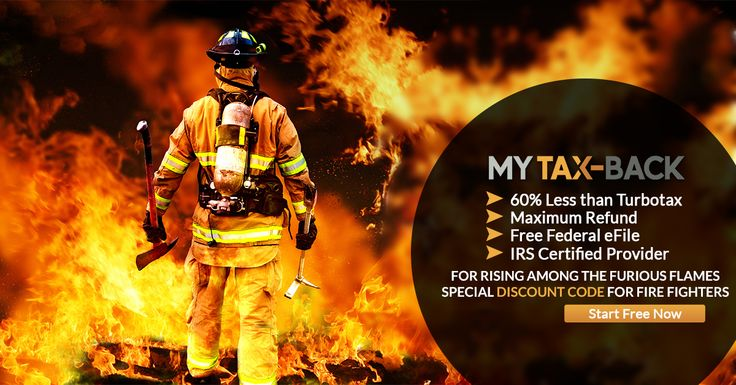 MyTax-Back wants to say a special thank you to all the firefighters that heroically give of their lives to help protect us. e-File with a large discount!