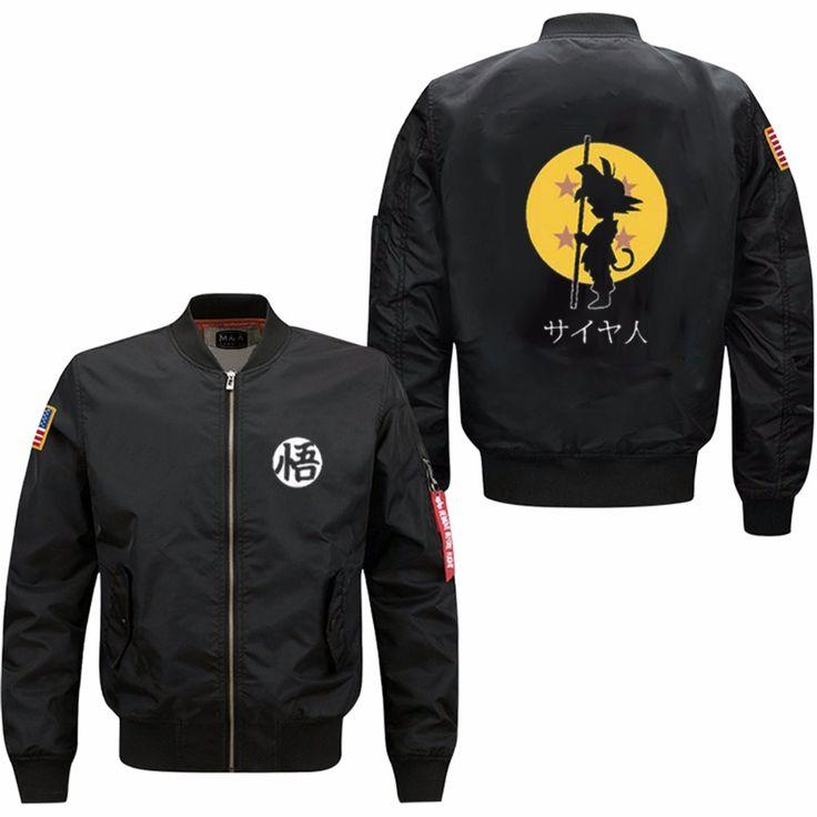 2017 Dragon Ball Animate spring autumn men's leisure jacket collar code Air Force pilots jacket