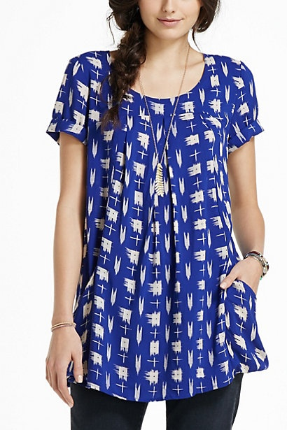 $68 Abstraction Tunic, Holding Horses, Anthroplogie. Love, love, and would work great for maternity wear