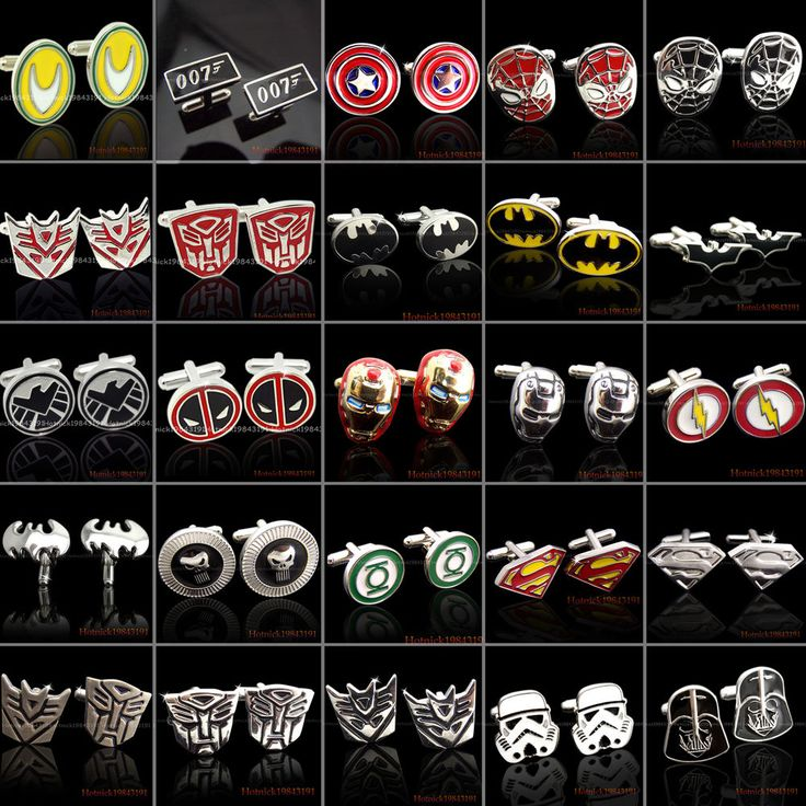SUPER HERO CUFFLINKS MENS WEDDING NOVELTY SUPERHERO CUFF LINKS In Stock