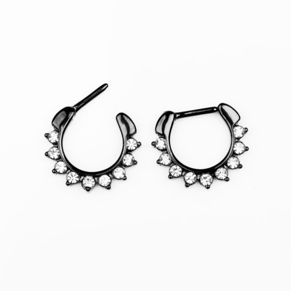 1.2mm Musta Septum Clicker Tekotimanteilla | Cybershop