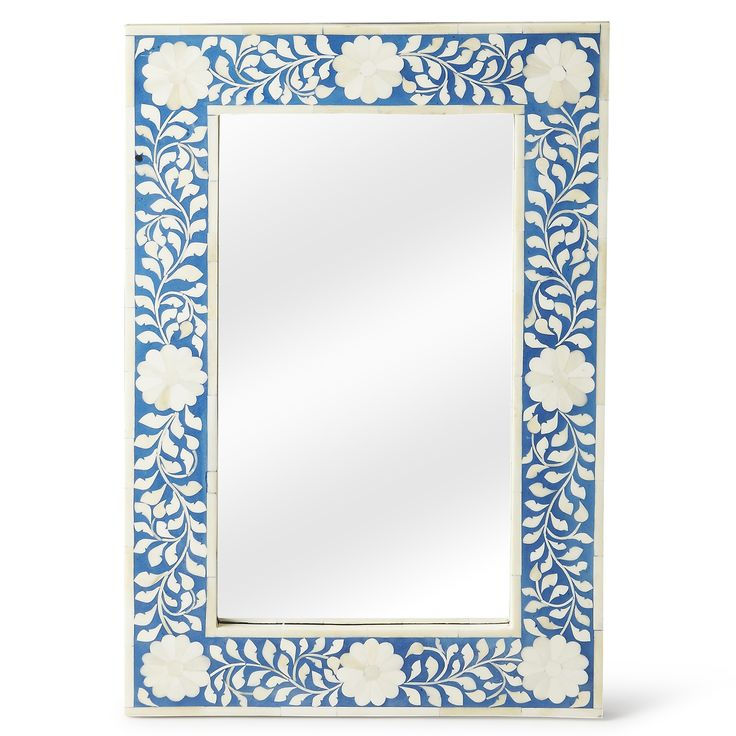 Calista Blue Wall Mirror