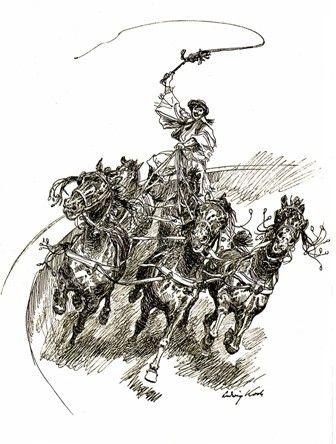Ludwig Koch rajza a Puszta-ötösről