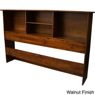 Scandinavia Solid Wood Bookcase Headboard | Overstock.com Shopping - The Best Deals on Headboards